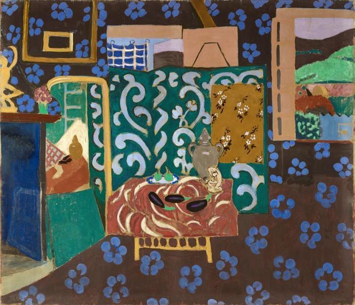 """Image du tableau """"Intérieur aux aubergines"""" de Matisse"""